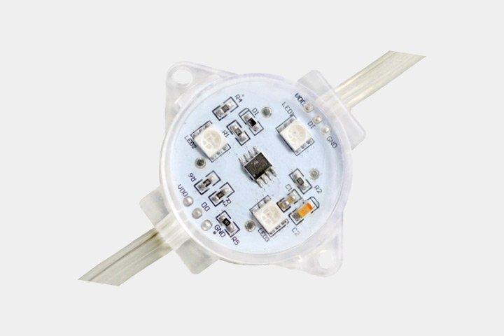 MODULO 3 LED PIXELS 5050 RGB 40MM CON IC