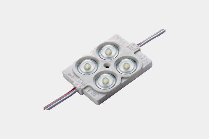 Modulo 4 LED 2835 con lente
