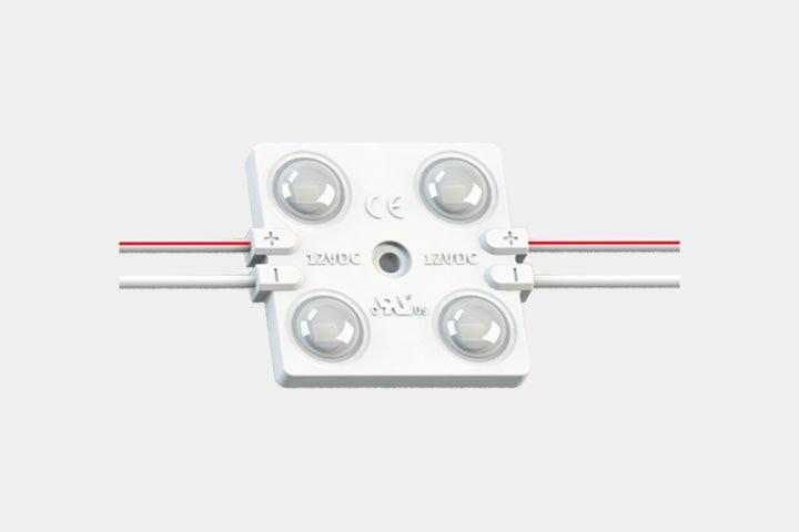 Modulo 4 LED 2835 con lente 160
